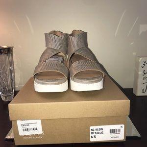 05b9094354f7 Steven By Steve Madden Shoes - Steven Natural Comfort Klein Metallic 6.5 New